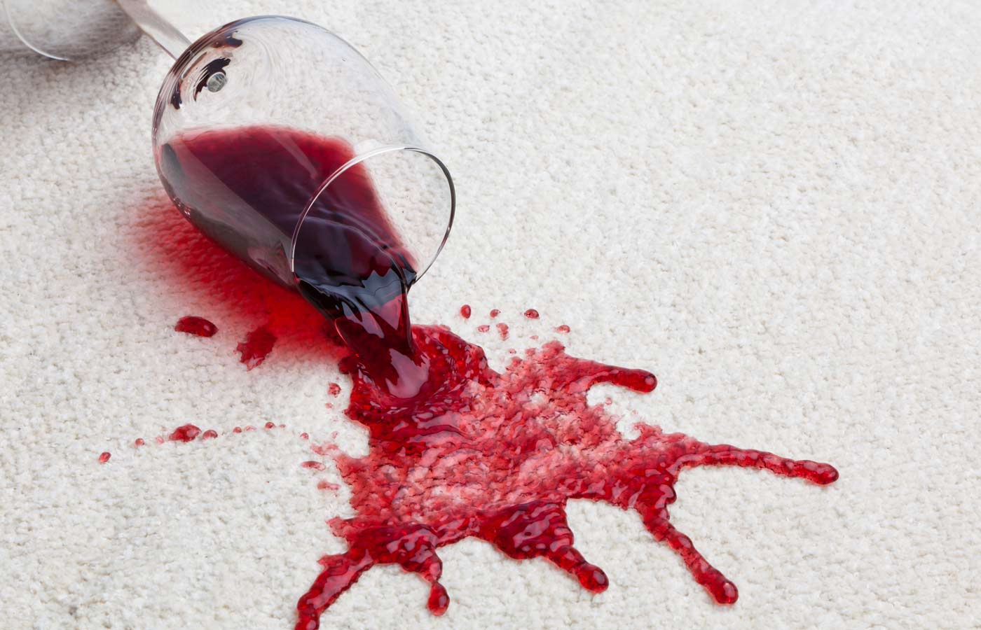 wine spilled on the carpet